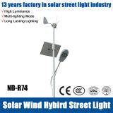 indicatore luminoso di via ibrido del Solare-Vento di 40W LED con la batteria di litio