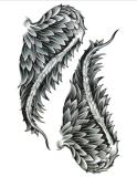 De Vleugels van de fantasie maken de Tijdelijke Sticker van de Tatoegering van de Kunst van de Sticker van de Tatoegering waterdicht