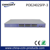 完全な2つのSFPのアップリンクポート(POE2402SFP-3)が付いているギガビット24ポートPoeのスイッチ