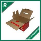 Rectángulo de empaquetado acanalado al por mayor respetuoso del medio ambiente para el empaquetado de los alimentos biológicos