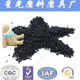 Carbón activado shell adsorbente 0.5-1m m granulares del coco