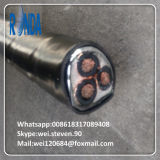 câble de cuivre isolé par XLPE à un noyau souterrain de fil du pouvoir 6/10KV