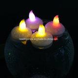 Vela Heatless sin llama flotante activada agua multicolora de la boda de Opearted de la batería de las velas del LED Tealight