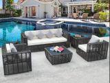 Il sofà del patio di 4 Piecess ha impostato con la mobilia del rattan del PE dell'ammortizzatore