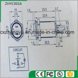 interruptor de tecla do metal de 12mm com a luz do diodo emissor de luz e a função de travamento automático (altamente lisas)