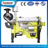 A água do cilindro de Weichai 6 refrigerou motor do motor 300HP/220kw de 1500 RPM