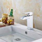 Torneira de lavatório polido de pia com único punho em latão
