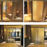 Vidro Switchable opaco elétrico esperto de Pdlc do hotel do vidro de vidro ou liso curvado 10mm
