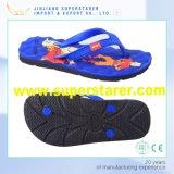 印刷されたエヴァの靴の中敷PVC水晶上部の男女兼用は女性の双安定回路浜のサンダルの浴室のスリッパに人を配置する