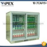 Dispositivo di raffreddamento di vetro della barra della parte posteriore di doppio portello per il frigorifero della barra della bevanda della bevanda
