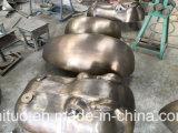 金の黒いカバヘッド彫刻、銅のBlacksmithingの屋外の庭の装飾