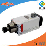 asse di rotazione di CNC raffreddato aria quadrata di 6kw 5.5A 600Hz Er32 con l'aletta