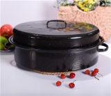 Nuovo POT dello smalto del girarrosto del BBQ del girarrosto della Turchia dell'orlo di rotolamento di disegno