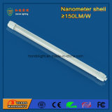 2017 Hot Sale Nanometer Shell 150lm / W 1200mm 18W LED T8