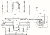 Ventilateur de l'évaporateur 310 mm Spal 24V, 008-B45-22, Yutong 8114-00010