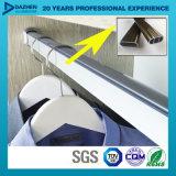 Profil en aluminium en aluminium pour le tube rond ovale Rod de garde-robe avec la couleur différente