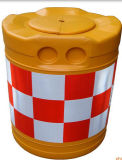Seguridad en carretera colorida plástica reflexiva de la barrera de agua de la seguridad de tráfico
