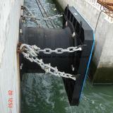 鉄骨フレームが付いている円錐形のドックポートの突堤桟橋のフェンダー