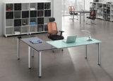 Bureau d'ordinateur de bureau droit 6 places avec partition