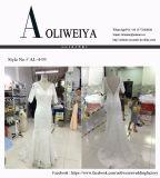 Robes de mariage réelles du ressort 2017 d'Aoliweiya avec 3/4 de chemises