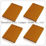 8m m Glass&Color teñido té de oro Glass&Painted de cristal para la decoración/el edificio