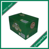 24 rectángulos de empaquetado del papel acanalado de la cerveza del cristal de botellas