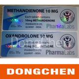 Foil láser personalizada Oro farmacéutica efecto de la impresión de etiquetas de colores Vial