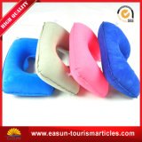 Flocked PVC Inflatable Airline Sleeping Neck Pillow