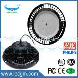 UL 세륨 RoHS FCC 130lm/W 80W/100W/120W/150W/200W/240W LED 큰 열 싱크를 가진 산업 UFO 빛