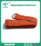La stuoia registrabile di yoga dell'inarcamento di forma fisica del cotone della cinghia di plastica di yoga trasporta la cinghia dell'imbracatura