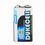 Bateria alcalina 6lr61 9V do elevado desempenho