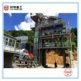 80T/H de protección del medio ambiente máquina mezcladora de asfalto con baja emisión