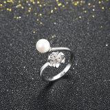Monili d'argento puri delle donne dell'argento sterlina dell'anello 925 della pera