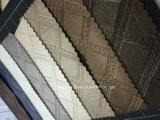 Cuoio sintetico del PVC della superficie metallica per il sofà/la mobilia/sacchetti/decorazione interna dell'automobile