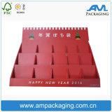 Rígido personalizadas de papel corrugado cartón Expositor con la división