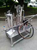 Cárter del filtro modificado para requisitos particulares industrial de bolso del acero inoxidable del filtro auto con la bomba de Warer