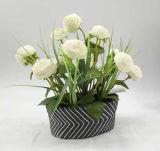 人工花のバスケットは庭の装飾を植える