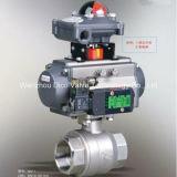 Atuador pneumático de Aço Inoxidável 2PC a válvula de esfera com interruptor de limite e a válvula solenóide