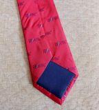 Uniforme tissé en soie Cravate jacquard avec logo