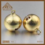 Mode Belle qualité Gold Plated Metal Jingle Bells 16mm pour Décoration
