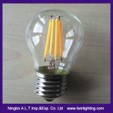 Bombilla LED G45 filamento de vidrio con tapa transparente