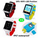 De sport 2g/GSM maakt GPS van de Jonge geitjes van de Pols het Slimme Horloge van de Drijver met geo-Omheining Y3 waterdicht