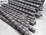 Engranzamento revestido 14X14X0.33mm da seleção do indicador de alumínio do PVC da cor preta