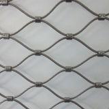 Поручень экрана ограждения с обжимным кольцом 304L Стальной канат сетка