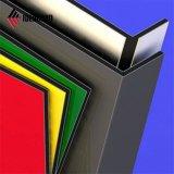 Norma ASTM Ideabond PVDF vermelho do painel de alumínio externo (AF-370)
