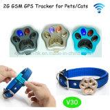 Inseguitore portatile di GPS dell'animale domestico impermeabile della Geo-Rete fissa con V30 Anti-Perso WiFi