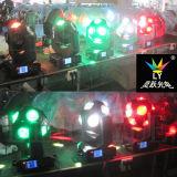 RGBW Mini LED CREE moviendo la cabeza de la luz de discoteca haz