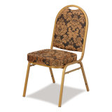 椅子を食事するホテルをスタックする宴会の金属