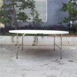 Im Freiengarten-Möbel-weißer Plastikharz-runder faltender Hochzeits-Tisch Yc-T61
