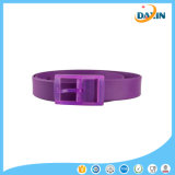 2016 New Unisex Stylish Candy Colors Cinturão de plástico de silicone preto